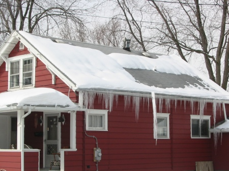 Roof Ice is a Problem