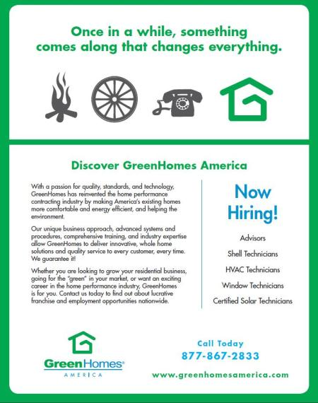 GreenHomes is Hiring!