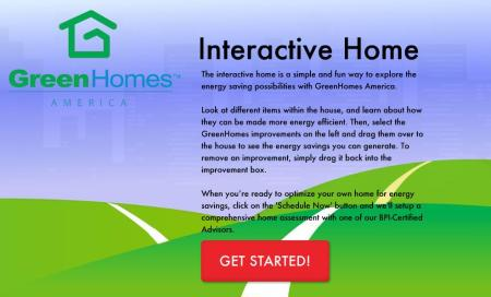Interactive Home Entry Screen