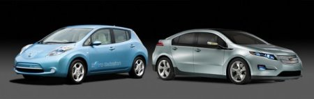 GM's Volt and the Nissan Leaf--from the GM website