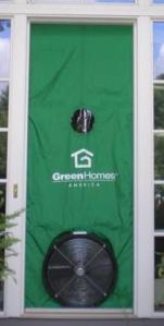 A blower door is used to help find and measure air leaks