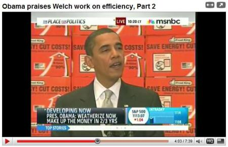 President Obama speaks on weatherizing homes and creating jobs.