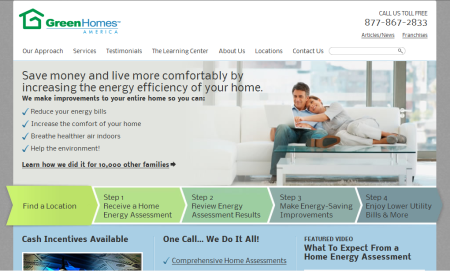 GreenHomes America website.  Videos, information, and services for insulation, air-sealing, energy audits, windows, heating, cooling, and solar