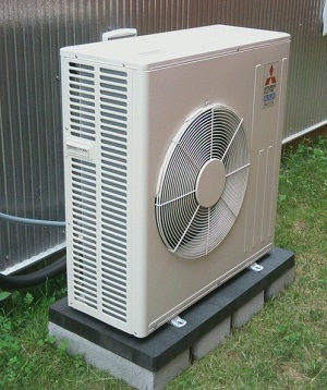 Cooling with mini split a c greenhomes america for Ac condenser pad installation