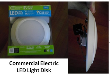 Commercial Electric  LED Disk Light